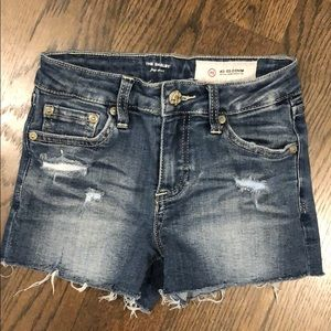 Like new AG size 10 ripped jean shorts